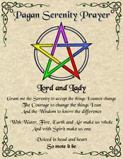 Pagan Serenity Prayer Wicca Witch New Age Pentagram Spirit Celtic Magic Goth