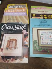 Lot 9 Vintage Cross Stitch Magazines 70's, 80's & 90's