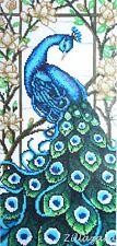 Paradies Garten Vogel Pfau Stickpackung Stickbild Bild sticken mit Perlen 658