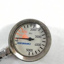 Performance Brass 5000 Psi Spg Submersible Pressure Gauge 5,000 with 32in. Hose