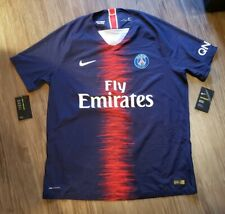 NWT Nike 18/19 PSG Authentic Vaporknit Home Soccer Jersey Men's XL 894419-411