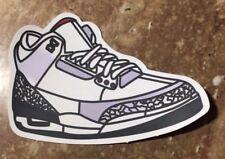"Nike Air Jordan Retro 3 III ""OG"" White/Fire Red-Cement Grey-Black Sticker"