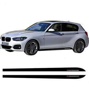 3D Carbon Fiber Texture Car Body Side Skirt Stripe Sticker Performance Letter