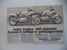 advertising Pubblicità 1982 MOTO SUZUKI GSX 750 S/1100 S KATANA