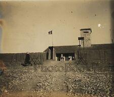 Poste militaire Bagdad Irak Syrie Plaque verre stereo Vintage ca 1928