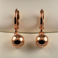 9ct Rose Gold Filled Ball Dangle Drop Earrings Womens Gift Idea UK 461