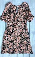 Topshop Tall Peony Blush Floral Tea Mini Dress 12 - B29