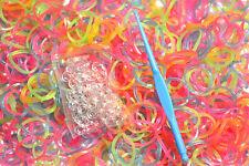Kit Bracelet 2700 élastique Magic Loom Band Crazy rainbow Fluo Phospho Paillette