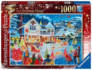 RAVENSBURGER PUZZLE WEIHNACHTEN*1000 TEILE*THE CHRISTMAS HOUSE*RARITÄT*NEU+OVP