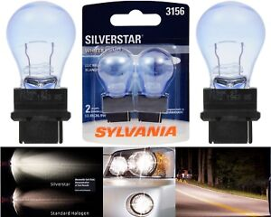 Sylvania Silverstar 3156 27W Two Bulbs Back Up Reverse Light Replace Upgrade Fit