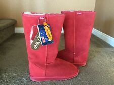 """Emu Australia Women's """"Bronte"""" Hi Boots Ruby Red Size 7 or 8.....Brand New"""
