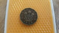 Great Britain 1944 Three pence - King George VI coin.