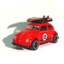 VW Volkswagen Beetle Surfing Toy Fair No.19 Red Majorette Diecast Cars 241A 1:64