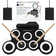 Wicked Gizmos Electric Drum Mat Portable with 2 Pedals