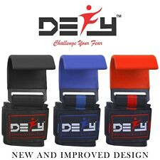 DEFY New Weight Lifting Power Training Dip Hook bar Gym Straps Wrist Support