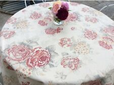 Oilcloth fabric, PVC coated, Shabby Chic floral fabric, Ivory, Per Meter