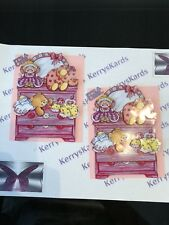 2 x Decoupage Pictures of Baby Girl Theme Toppers