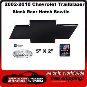 02-10 Chevy Trailblazer Black Billet Aluminum Rear Hatch Bowtie AMI 96075K