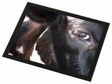 Pretty Fresian Cow Face Black Rim Glass Placemat Animal Table Gift, ACO-3GP
