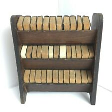 Miniature Complete Shakespeare Plays & Bookcase  - good condition 34002 CP