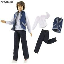 1/6 Boy Doll Clothes For Ken Doll T-shirt Denim Vest Trousers For Boyfriend Ken