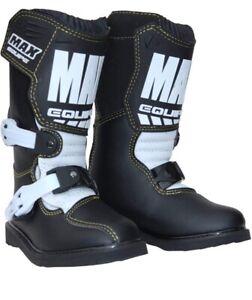 Children's Wulfsport Max Equipe Motocross Off-Road boots. UK 1 EU 33 RRP £75