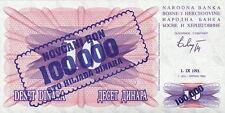 Bosnien und Herzegowina 100.000 Dinara 1.9.1993 ( auf 1992 ) Pick 34a (1)