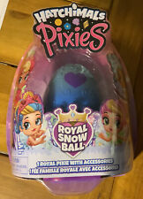 NEW Hatchimals Pixies Royal Snow Ball w/ 1 Royal Pixie and Accessories ~ Blue