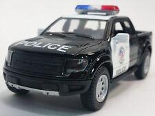 """New 5"""" Kinsmart 2013 Ford F-150 SVT Raptor Supercrew Police Diecast Truck 1:46"""
