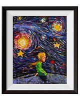 The Little Prince Le Petit Prince Van Gogh Starry Night Wall Art Print A021