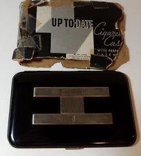 Up To Date Perpetual Calendar Art Deco Cigarette Case vintage Black 1930 Box