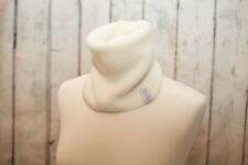 White Baby Alpaca Merino Wool Men Neck Warmer Gaiter Handmade Snood Unisex