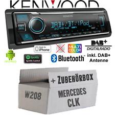 Kenwood Radio für Mercedes CLK W208 DAB+ Bluetooth iPhone/ Android Einbauset PKW