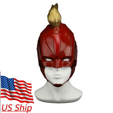 2019 Movie Captain Marvel Mask Superhero Women Carol Danvers Halloween Helmet