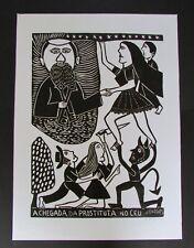 Signed Jose Francisco Borges Brazil Woodbock Print 2002