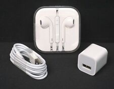APPLE EARPODS, CHARGING CABLE AND AC ADAPTER