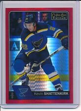 2016/17 OPC O PEE CHEE PLATINUM KEVIN SHATTENKIRK RED PRISM #/D 58/199