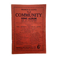 Vintage Piano Sheet Music Francis & Day's No 3 Community Song Album 30 Songs