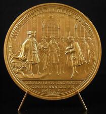 Médaille 1978 Louis XIV excuses de l'Espagne au roi 1662 Marquis de la Fuente