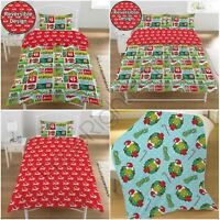 THE GRINCH CHRISTMAS BEDROOM - FLEECE BLANKET, DUVET COVER SET SINGLE & DOUBLE