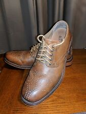 H.S. TRASK CHOTEAU SPADE BROWN LEATHER OXFORDS SHOES OXFORD 9 M 42 UK 8 MENS