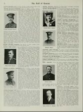The roll of honour naval and military forces who have fallen in the great war.