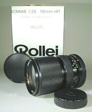 [BOXED] Rollei Sonnar HFT 135mm f/2.8 Excellent Fast Portrait Lens - QBM Mount