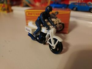 Vintage Lesney Matchbox #33 Police Motor Cyclist 1976 - With Box