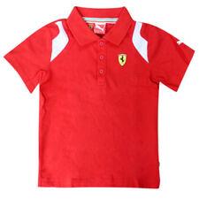 Magliette e maglie rossi manica corti per bambini dai 2 ai 16 anni polo
