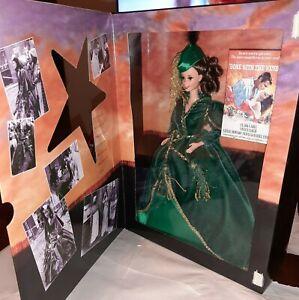 Barbie Doll as Scarlett O'Hara Green Drapery Dress 12045 Hollywood Legends NOS