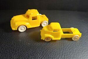 Lot of 2 Vintage 40s-50s Small Plastic Trucks