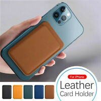 For iPhone 12 Pro Max 12 Mini Magnetic PU Leather Slim Card Pocket Wallet Holder