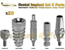 X20 Dental Implant Set 5 Parts All In One (Read Description)