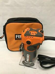 Ridgid R24012 5.5 Amp Corded 1-1/2 Peak HP Compact Handheld Hand Router, GR M